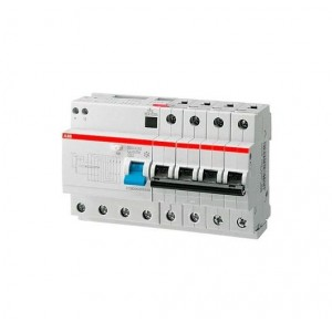 Выключатель авт. диф. тока 4п 8мод. C 63А 30мА тип AC 6кА DS204 ABB