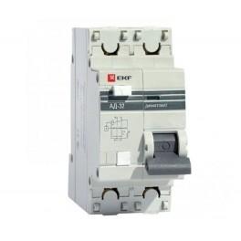 Выключатель авт. диф. тока 1п+N 2мод. C 16А 30мА тип AC 4.5кА АД-32 PROxima EKF