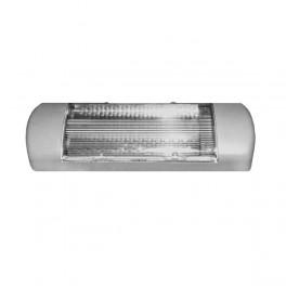 Светильник Омега-О с дросселем 11Вт с лампой КЛЛ G23 IP23 сер. Трансвит