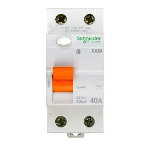 Выключатель диф. тока 2п 40А 30мА тип AC ВД63 Домовой SchE