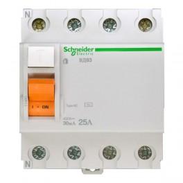 Выключатель диф. тока 4п 25А 30мА тип AC ВД63 Домовой SchE
