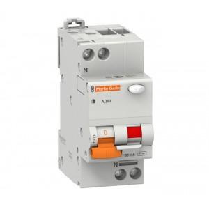Выключатель авт. диф. тока 1п+N 2мод. C 25А 30мА тип AC 4.5кА АД63 Домовой SchE