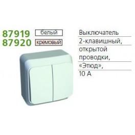 Выключатель 2-кл. ОП Этюд 10А бел. SchE