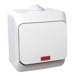 Выключатель 1-кл. ОП Этюд 10А с индик. IP44 SchE