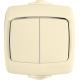 Выключатель 2-кл. ОП Рондо IP44 сл. кость SchE ВА56-225Б (ВА56-225Б-си)