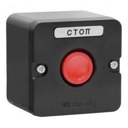 Пост кнопочный ПКЕ 212-1 У3 красная IP40 (пластик)