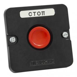 Пост кнопочный ПКЕ 122-1 У2 красн. IP54 (пластик)