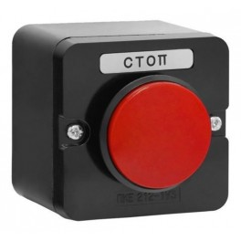Пост кнопочный ПКЕ 212-1 У3 красный гриб IP40 (пластик)