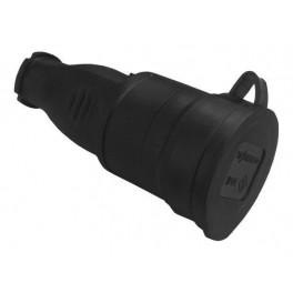 Розетка каучук. перенос. с З/К с защитной крышкой IP44
