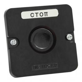 Пост кнопочный ПКЕ 112-1 У3 IP40 черн (пластик)