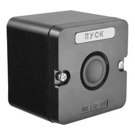 Пост кнопочный ПКЕ 212-1 У3 черн. IP40 (пластик)
