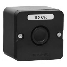 Пост кнопочный ПКЕ 222-1 черн. (пластик)