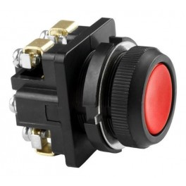 Выключатель кнопочный КЕ 011/3 красный 2р, карболит