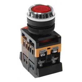 Кнопочный выключатель ABLFS-22 красная с подсветкой 1з+1р 230В
