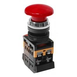 Кнопочный выключатель AEA-22 гриб красный 1з+1р