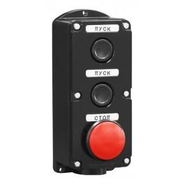 Пост кнопочный ПКЕ 222-3 У2 IP54 красный гриб (карболит) ГОСТ