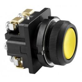 Выключатель кнопочный КЕ 011/5 желтый 1р, карболит