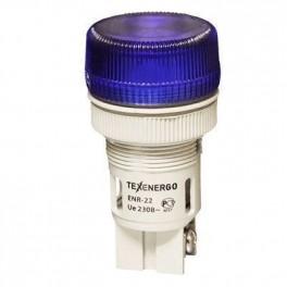 Сигнальная лампа ENR-22 синий 230В