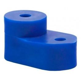Угловой изолятор для 'О' шины синий
