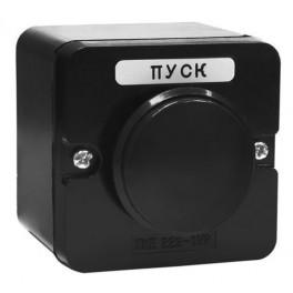 Пост кнопочный ПКЕ 222-1 У2 чёрный гриб IP54 (карболит) ГОСТ