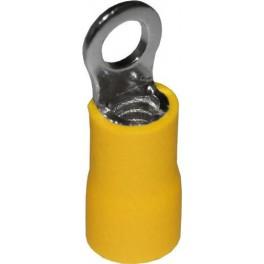Наконечник кольцевой изолированный НКИ 6,0-4 жёлтый (100 шт.)