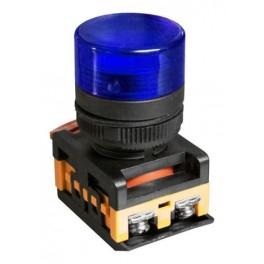 Сигнальная лампа AL-22TE синий 230В неоновая лампа,