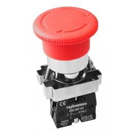 Кнопочный выключатель LAY5-BS542 'Грибок' красный фиксация