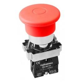 Кнопочный выключатель LAY5-BТ42 'Грибок' красный с фиксацией поворотная