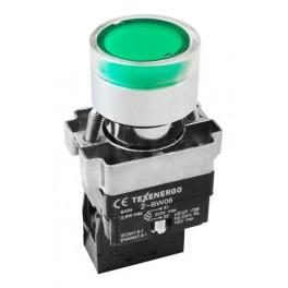 Кнопочный выключатель LAY5-BW3361 зеленый с подсветкой 1з