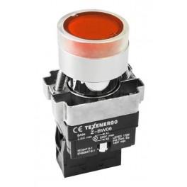 Кнопочный выключатель LAY5-BW3461 красный с подсветкой 1з