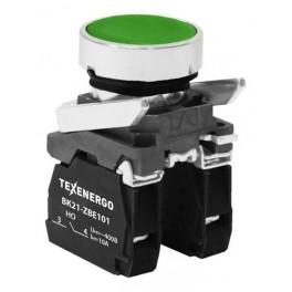 Выключатель кнопочный ВК21-ВА35 1з+1р зеленый