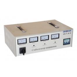 Стабилизатор напряжения СН- 1,5/3 (Мощность 1,5кВА, вх.напр.280-430В, вых.напр.380В)