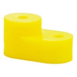 Угловой изолятор для 'О' шины желтый