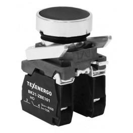 Выключатель кнопочный ВК21-ВА25 1з+1р чёрный