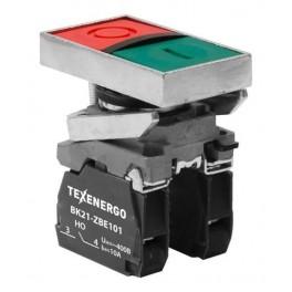 Выключатель кнопочный ВК21-ВL8325 1з+1р зеленый+красный