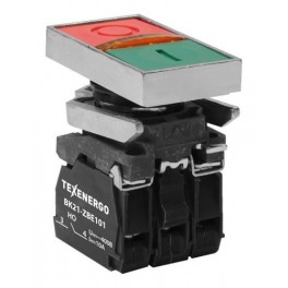 Выключатель кнопочный ВК21-ВW8365 1з+1р зеленый+красный, подсветка 220В АС