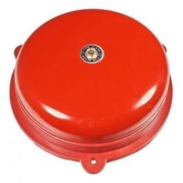 Звонок громкого боя МЗМ-1К 220АС 200мм цвет красный