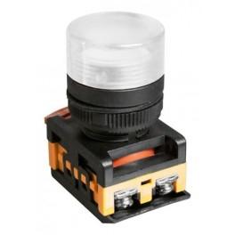 Сигнальная лампа AL-22TE белый 230В неоновая лампа