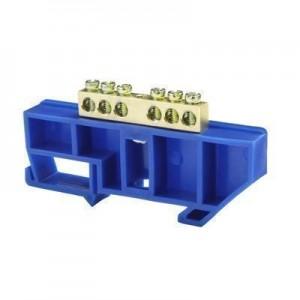 Шина нулевая 'N' 6 6х9 мм (с синим DIN-изолятором)