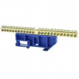 Шина нулевая 'N' 24 6х9 мм (с синим DIN-изолятором)