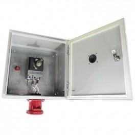 Ящик силовой с автомат. выкл и силовой розеткой ЯВША 3 - 80 А IP54 ( штепс.разъем 63А пятиштырьковый)