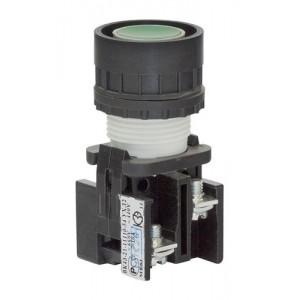 Выключатель кнопочный ВК-43-21 11110 1з+1р зелен.