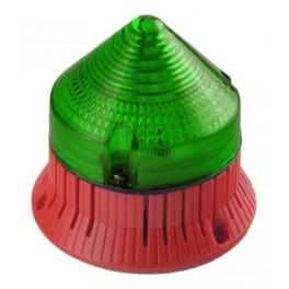 Светозвуковой мигающий сигнал CTLA1200FCL240A4 зеленый IP30 (33824)