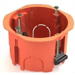 Коробка установочная с/у 1-но мест. D=65мм Н=40мм с саморезами для сплошных стен