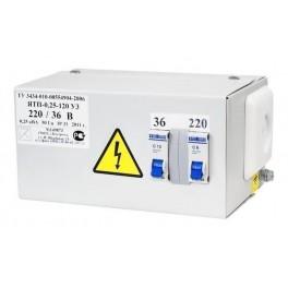 Ящик с пониж. трансформатором ЯТП-ОСО-0,25 220/36 В (2 автомата)