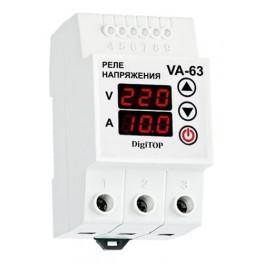 Реле напряжения с контролем тока VA-63A DigiTop