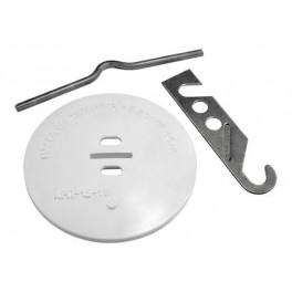 Розетка потолочная для светильника РП-20/2 с изогнутым стержнем
