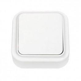 Выключатель 'Пралеска' белый о\у 1кл. 250В, 6А