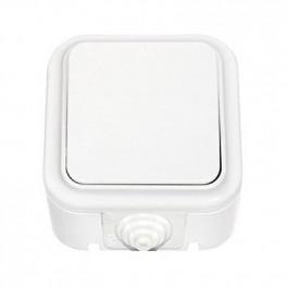 Выключатель 'Пралеска' белый о\у 1кл. 250В, 6А б/з IP54