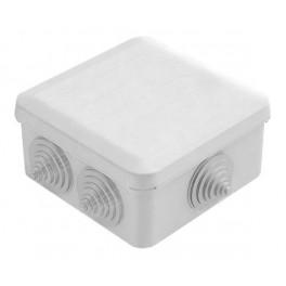 Коробка распаячная о/у 6 вводов 100х100х50 IP55 с защелк. крышкой